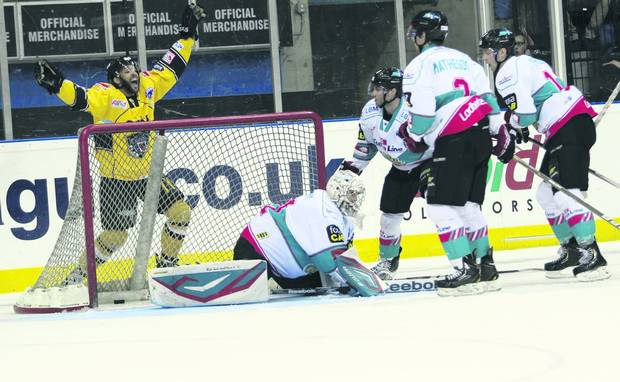 They need overtime to do it, but Nottingham completed their treble in 2012/13 by beating Belfast in the Play-off Final