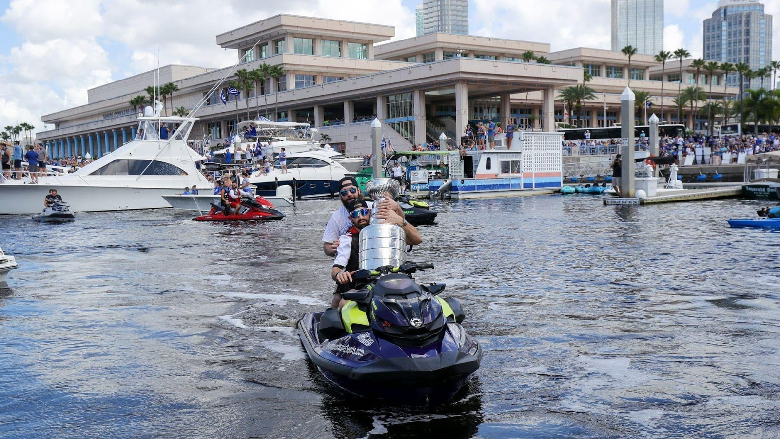 Tampa Bay celebrate their Stanley Cup win with a boat parade